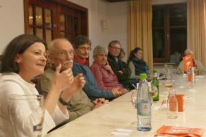 Uli Grötsch mit Petra Hinkl und Norbert Ringler in Neuendettelsau
