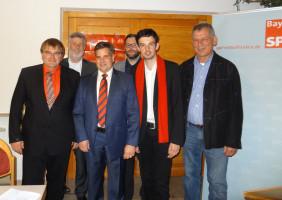 Harry Scheuenstuhl, Kurt Unger, Jürgen Arnold, Hans Unger, Christoph Rösch, Wolfgang Seidel (von links nach rechts)